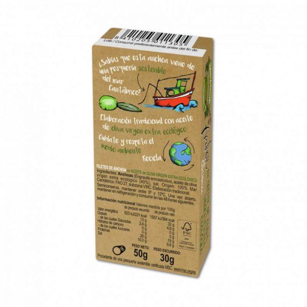 Anchoas en aceite de oliva 50g