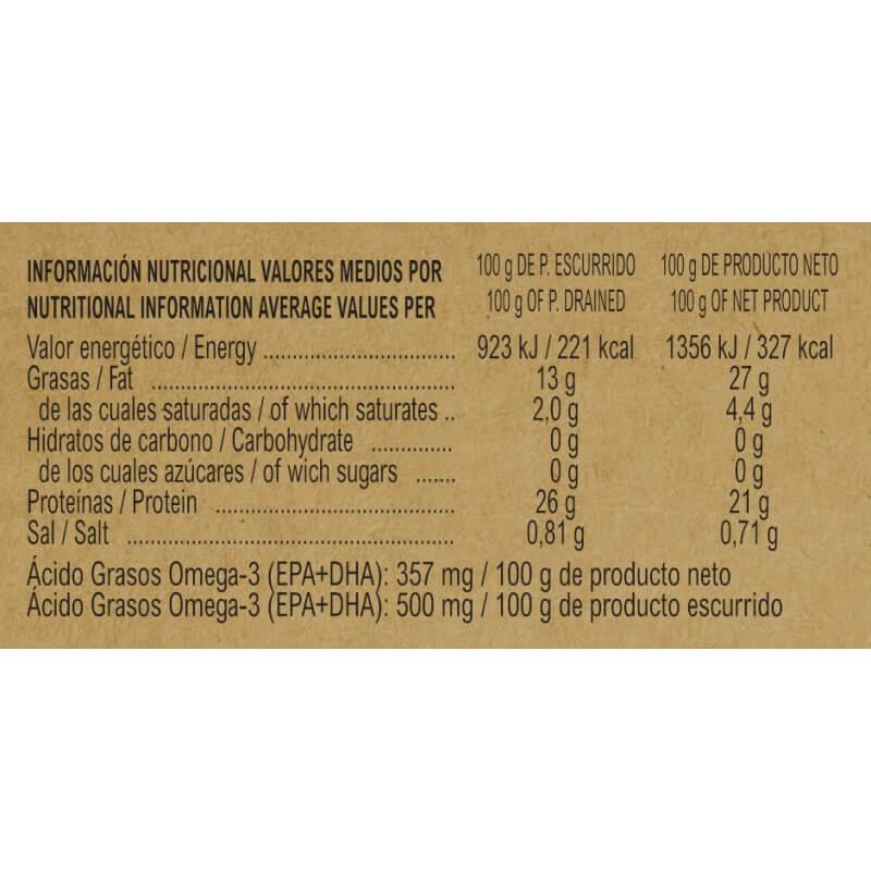 MSC White Tuna in Organic Extra Virgin Olive Oil 115g
