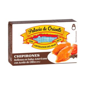 Chipirones Rellenos en Salsa Americana con Aceite de Oliva