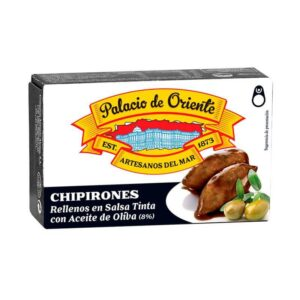 Chipirones Rellenos en Salsa Tinta con Aceite de Oliva