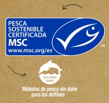 Certificaciones MSC y Dolphin Safe en el bonito del norte MSC en aceite de oliva virgen extra ecológico Palacio de Oriente
