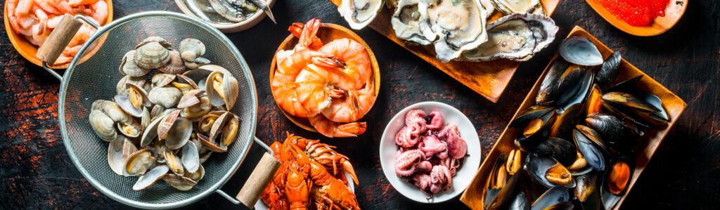 Mezcla de mariscos, ¿es mejor consumirlos en meses con R?
