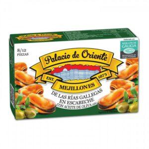 Mejillones Rías Gallegas en Escabeche con Aceite de Oliva 8/12 Piezas