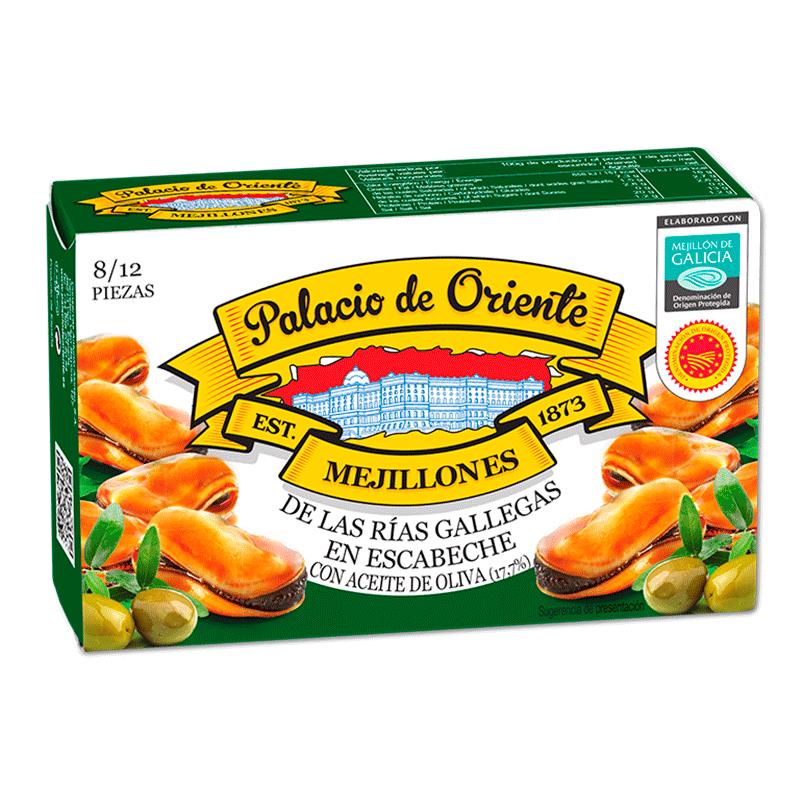 Mejillones en escabeche con aceite de oliva 8-12