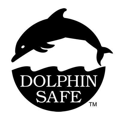 Distintivo Dolphin Safe en las latas de conserva de bonito del norte y atún de Palacio de Oriente