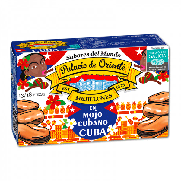 "Cozze delle ""Rías Gallegas"" al Mojo Cubano (Cuba) 13/18 Pezzi ""Sapori del Mondo"""