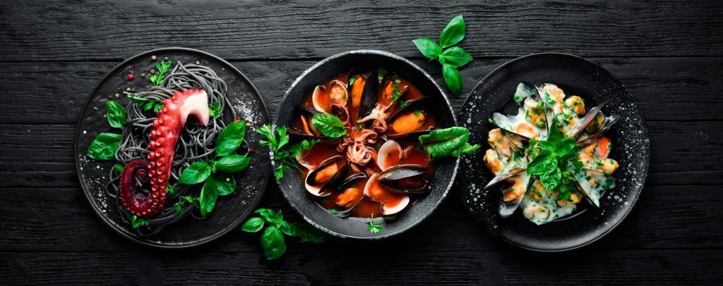 Algunas variedades de marisco tienen un bajo contenido de colesterol